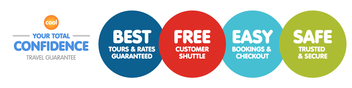 Best Tours & Rates Guaranteed, Free Customer Shuttle, Easy Bookings & Checkout and Safe Trusted & Secure